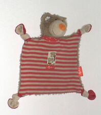 Mantita Sigikid oso Teddy Bear en rojo marrón rayas Comfort como nuevo *