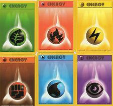 LOT OF  6   POKEMON ENERGY CARDS (base set)