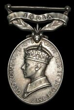 British George VI, Efficiency Medal, 1930, Silver Commonwealth 'INDIA' Medal