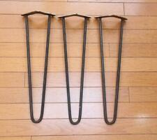 3 Mid Century Modern Wrought Iron Hairpin Table Legs Angle Mount Bracket 15  3/4
