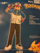 Pokemon Ash Costume Boys S(6) Free S/H