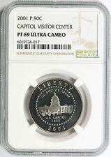 2001-P 50c Capitol Visitor Center Commemorative Half Dollar NGC PF69UCAM