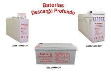 Batería solar AGM GEL 150AH 250AH Battery Solar 12V Descarga profunda