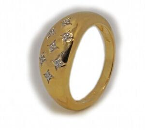 Harry Ivens IV Ring Silber 925 vergoldet Diamanten
