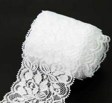 10 Yds Lovely White Flower Pattern Lace Trim Fabric Embellishment Lace Trimming