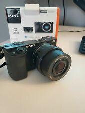 Sony Alpha A6000 24.3MP Digital Camera - Black w/16-50mm lens- Only 230 Shots