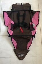 BOB Revolution Single Jogger Stroller FABRIC SEAT Cloth - Brown Pink Used 2010