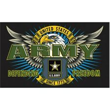 """Flags Smflar Mission First 3"""" x 5"""" Polyester Army Flag w/ Metal Grommets"""