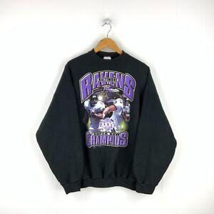 Baltimore Ravens Vintage Sweatshirt Crewneck Size XL Black NFL Jamal & Ray Lewis