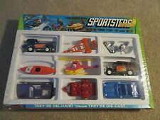 Tootsietoy Sportsters Die-Cast Set Trailers Boats Motorcycles +++ MISB 1971