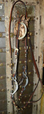 Western Alpaca Silver Show Bridle with Flat Rommel Reins and Alum & Silver bit
