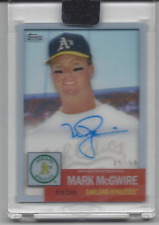MARK MCGWIRE #/50 2020 TOPPS CLEARLY AUTHENTIC ON CARD AUTO AUTOGRAPH A'S SP