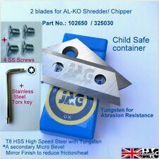 More details for  al-ko 325030 garden shredder t8 steel blades for h1800 h2200 h1100 h1300,102650