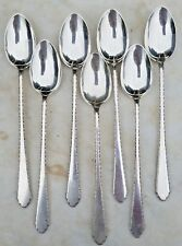 "ESTATE STERLING LUNT WILLIAM & MARY ICED TEA SPOON LOT OF 7-7 3/4"" 1921 925"