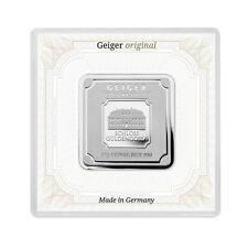 50 Gramm Fein Silberbarren Silver Bar Geiger original quadratisch in Kapsel