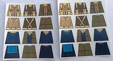Custom 24 stickers british soldiers WW2 set2 x 2 - SIZE - lego torso