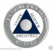 Dallas Team Colors C/T No YR AA 12 Step Recovery Medallion/Coin/Chip BRAND NEW