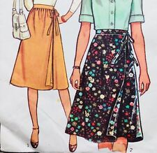 "Vintage 1970's YG JR. TEEN WRAP SKIRTS Sewing Pattern ~ Waist 26"". Hips 36.5"""