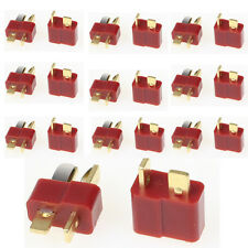 10 Pairs 20pcs T Plug Connector Female Male Deans For RC Lipo Battery Helicopter