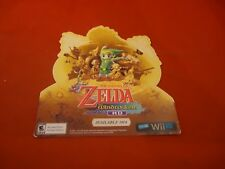 The Legend of Zelda Windwaker HD Nintendo Wii U Promo Sticker Display *NEW*