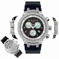 Men's Diamond Watch Joe Rodeo Master JJMS3(W) 2.20 Ct Chronograph Dial
