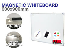 Magnetic WHITEBOARD Wall Mount 900mm x 600mm Quality Home Office White board