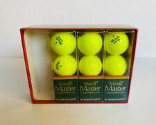 3 Vntge Sleeves Dunlop Maxfli Master Cut-Proof Yellow Golf Balls Unused 9 Balls