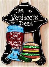 DECK Personalize BBQ GRILL Wine SIGN Porch Backyard Patio Pool Name Wall Plaque