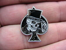 THE ACE OF SPADES MOTORCYCLE BIKER PIN BADGE MOTORBIKE SKELETON SKULL MOTORHEAD