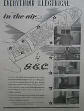 9/1946 PUB GEC ELECTRICAL EQUIPMENT HANDLEY PAGE HERMES AIRLINER ORIGINAL AD