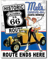 Mel's dinner Metal tin sign Route 66 Home Bar Garage Wall Decor New