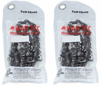 """WAR TEC 14"""" Chainsaw Saw Chain Pack Of 2 Chains Fits MAKITA UC3520A"""