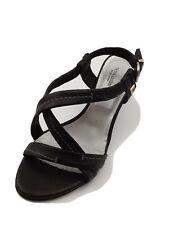 Nero Giardini P106211D Sandalo Donna Vera Pelle Tacco Cm. 6 Nero