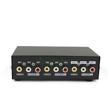2-Way 2 In 1 Out RCA AV Switch Video L/R Audio Switcher Selector Box DVD STB PS2