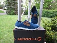Merrell Duskair Canvas Sneakers Casual Shoes,  Womens Blue Wing size 7
