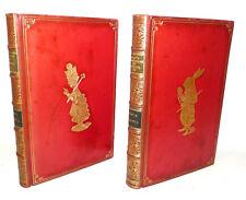 LEGATURA - Lewis Carroll : Alice in Wonderland + Looking Glass - 1929 Tenniel