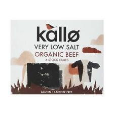 💚 3 x Kallo Organic Low Salt Beef 6 Stock Cubes