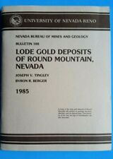 Lode Gold Deposits of Round Mountain Nevada with Maps 1985 Joseph V Tingley