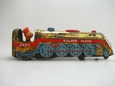 "Vintage ""Golden Cloud"" Tin Metal Toys Train Locomotive 3860 Battery Operated"