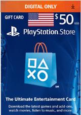 50 USD Digital Code Playstation Network PSN PS4 PS3 VITA USA Store Card New Fast