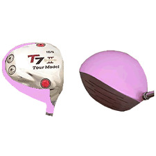COOL SWING PINK TAYLOR FIT MADE CUSTOM GOLF DRIVER ROCKET +25YD BALLZ +WINN PINK