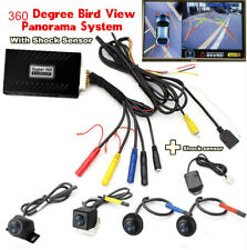 360 Degree HD Bird View Panoramic System seamless 4Camera Car DVR + Shock Sensor