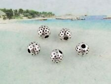50PCS Tibetan silver dotted  round spacer beads 7mm FC8365