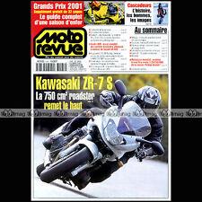 MOTO REVUE N°3465-b SACHS 800 ROADSTER ★KAWASAKI ZR-7 S ★ GUIDE GRAND PRIX 2001