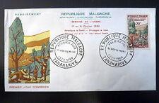 MADAGASCAR  351  PREMIER JOUR FDC      ARBRE, DEBOISEMENT       20F     1960