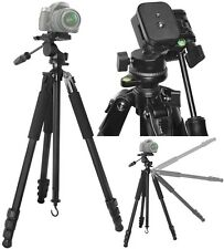 "80"" True Professional Heavy Duty Tripod With Case For Sony DSLR-A850 SLT-A65V"