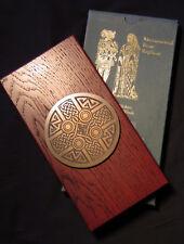 Exquisite Monumental Brass Etching Celtic Circle Handmade Plaque