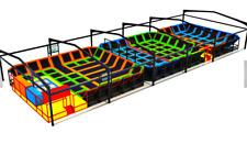 7,000 sqft Commercial Trampoline Park Dodgeball Turnkey Gym Ninja We Finance