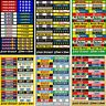Slot Car Scalextric Small Model Racing Barrier Building Mixed Stickers x 32