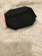 Mary Kay Small Cosmetic Travel Pop Up Bag Black Pink Bow & Interior Zip Top